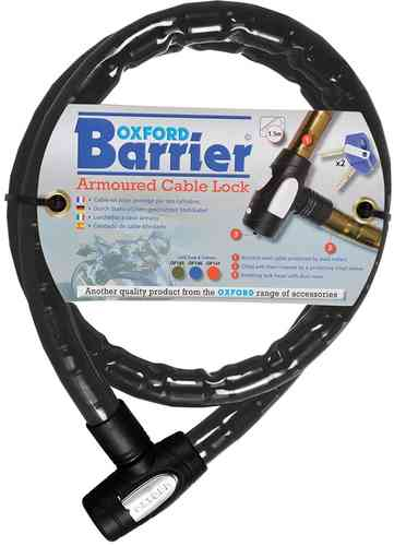 Oxford Barrier Bloqueo de cable Negro 150 cm