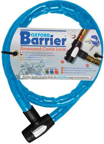 Oxford Barrier Bloqueo de cable Azul 150 cm