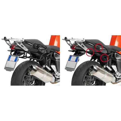 GIVI PLXR691 Rapid Release Holder V35 - Monokey® Side