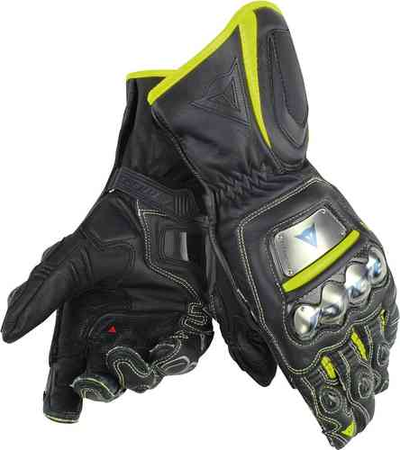 Image of Dainese Full Metal D1 Motorcycle Gloves Black Yellow XS