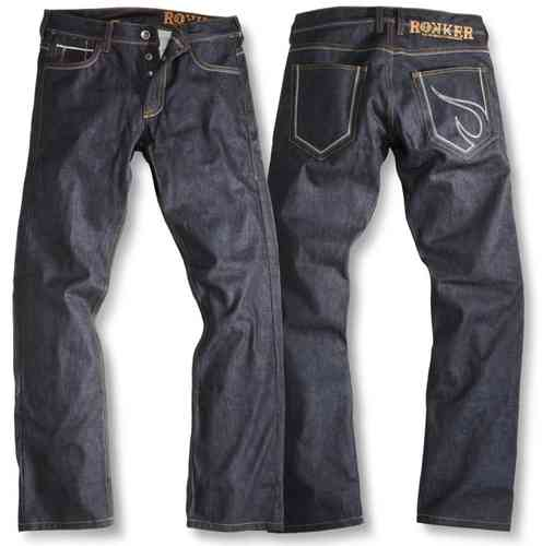 Rokker Red Selvage Jeans RAW Motorcycle Pants Pantalones de moto Azul 29
