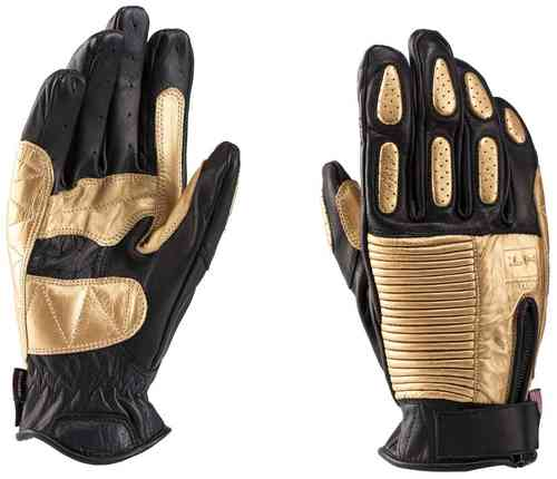 Blauer Banner Motorcycle Gloves Black Gold XL