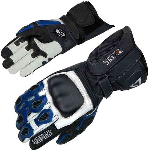Orina Force Motorcycle Gloves Black White Blue XL