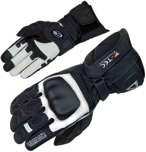 Orina Force Motorcycle Gloves Black White 2XL
