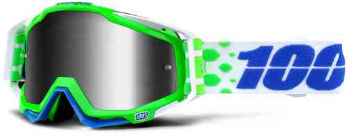 100% Racecraft Extra Motocross Goggles Green Blue One Size