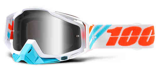 100% Racecraft Extra Motocross Goggles White Blue One Size
