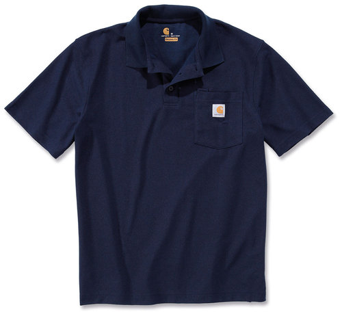 Carhartt Contractors Work Pocket Camisa de polo Azul XS