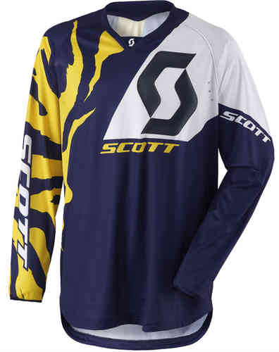 Scott 350 Race Camiseta de Motocross 2017 Blanco Azul M