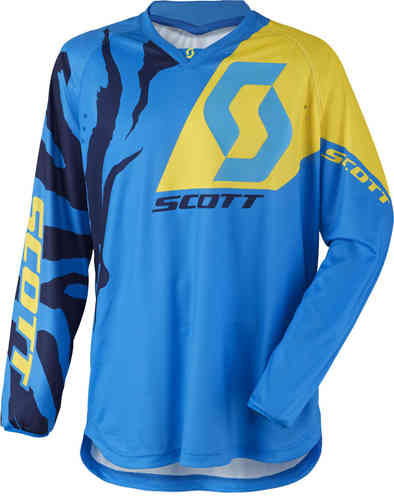Scott 350 Race Camiseta de Motocross 2017 Azul Amarillo 2XL