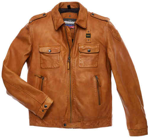 Blauer USA Dallas Chaqueta de cuero Marrón M