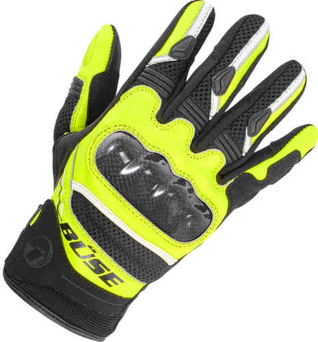 Büse Safe Ride Guantes Negro Amarillo 2XL