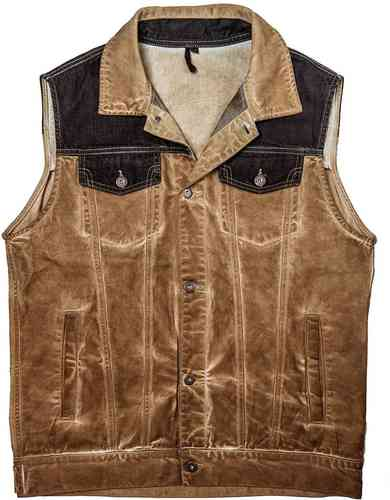 Rokker Mixed Vest Canvas Marrón 2XL