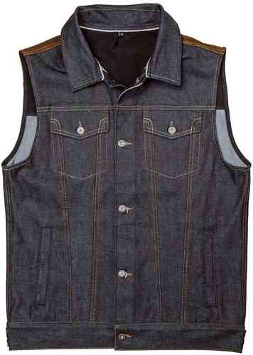 Rokker Mixed Vest Denim Azul L
