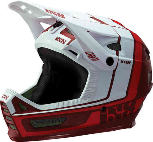 IXS XULT Casco descenso Blanco Rojo L XL