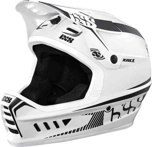 IXS XACT Casco descenso Negro Blanco L XL