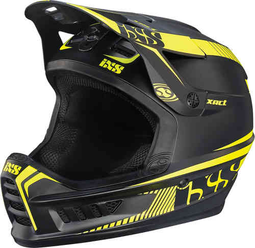 IXS XACT Casco descenso Negro Amarillo L XL