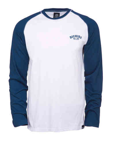 Dickies Baseball Camiseta Blanco Azul XL