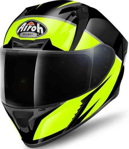 Image of Airoh Valor Eclipse Helmet Black Yellow L