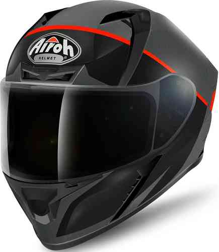 Image of Airoh Valor Eclipse Helmet Black Orange S