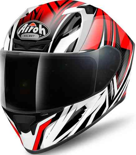Image of Airoh Valor Conquer Helmet Black White Red S