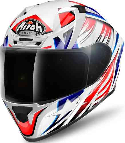 Image of Airoh Valor Commander Helmet White Red Blue S