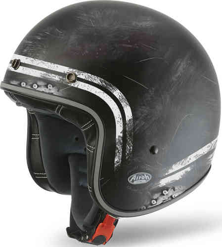 Airoh Garage Raw Casco Jet Negro L