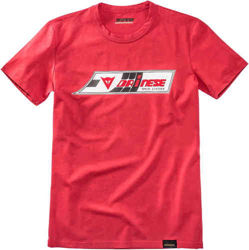 Dainese Speed Leather T-shirt Rojo S