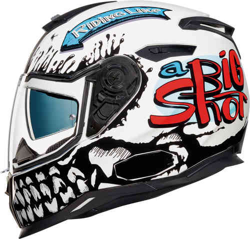 Nexx SX.100 Big Shot Casco Negro Blanco M