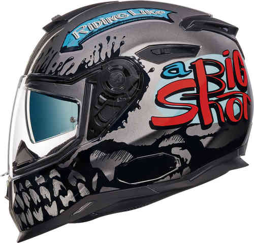 Nexx SX.100 Big Shot Casco Negro Gris 2XL