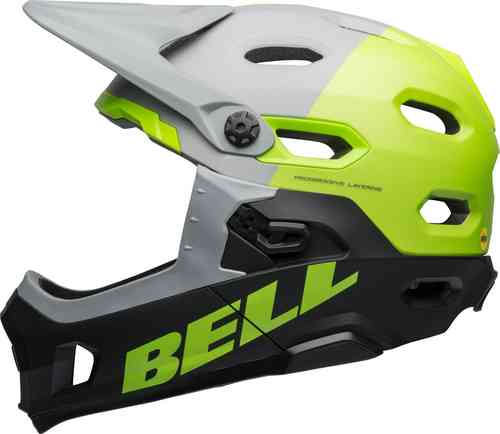 Bell Super DH Mips Downhill Casco Gris Amarillo M