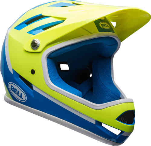 Bell Sanction 2018 Casco de descenso Verde Azul L