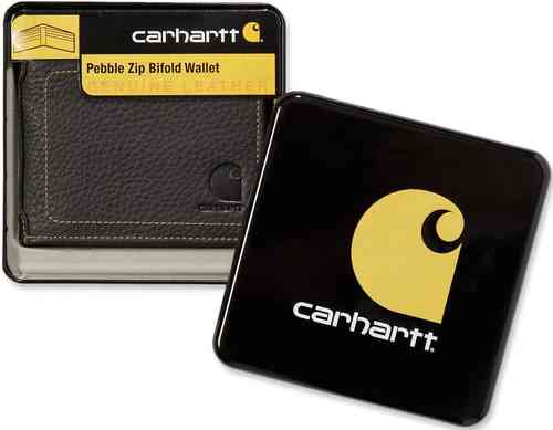 Carhartt Pebble Zip Bifold Monedero Negro