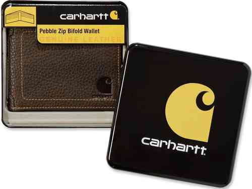 Carhartt Pebble Zip Bifold Monedero Marrón