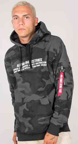 Alpha Industries Cargo Rubber Print Sudadera con capucha Multicolor 2XL