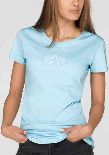 Alpha Industries Basic Camiseta de las señoras Azul XL