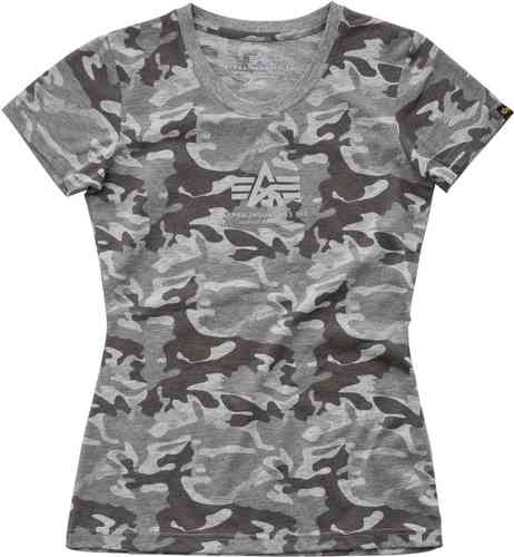 Alpha Industries Basic Camiseta de las señoras Gris S