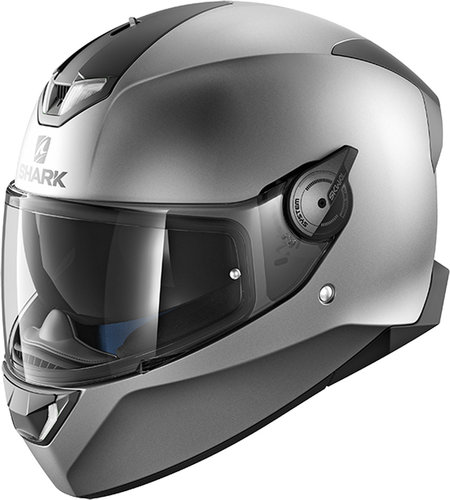 Shark Skwal 2 Blank Mat White LED Helmet Silver XL