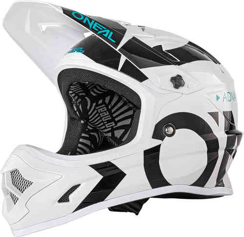 Oneal Backflip RL2 Slick Casco descenso Negro Blanco L