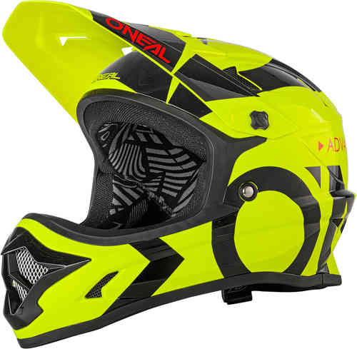 Oneal Backflip RL2 Slick Casco descenso Negro Amarillo L