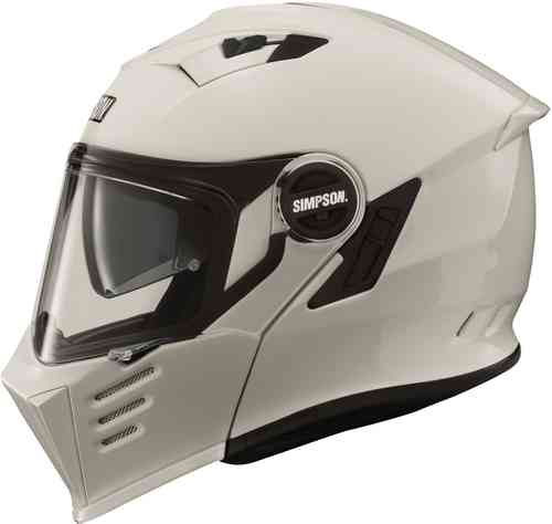 Simpson Darksome Solid Casco de moto Blanco 2XL