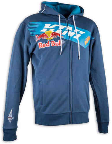 Kini Red Bull Athletic sudadera con capucha Azul 2XL