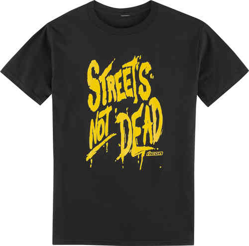 Icon Streets Not Dead Camiseta Negro 2XL