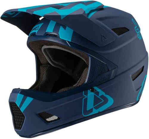 Leatt DBX 3.0 DH V19 Stadium Ink Casco de descenso Azul L