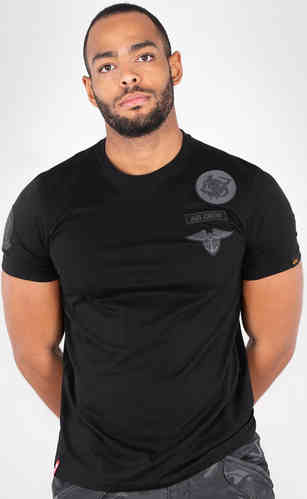 Alpha Industries Air Crew Camiseta Negro 2XL