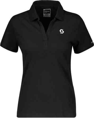 Scott 10 Casual S/SL Regular Camisa Polo para Damas Negro L