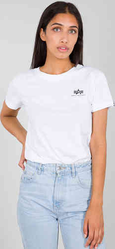 Alpha Industries Basic Small Logo Camiseta de señora Blanco L