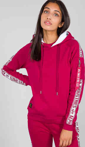 Alpha Industries AI Tape Sudadera con capucha para damas Rosa XL