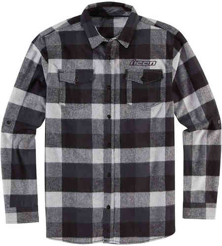 Icon Feller Flannel Camisa Negro Gris 2XL
