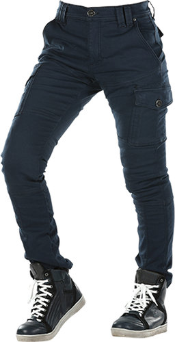 Overlap Carpenter Damas Motorcycle Jeans Azul 26
