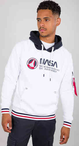Alpha Industries NASA Retro sudadera con capucha Blanco M